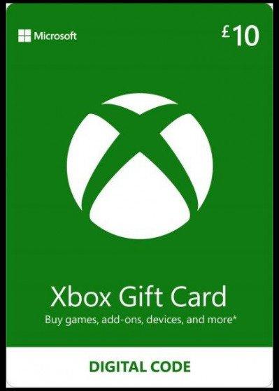 Microsoft Xbox Live Gift Card £10