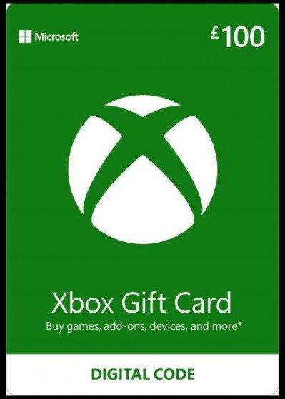 Microsoft Xbox Live Gift Card £100