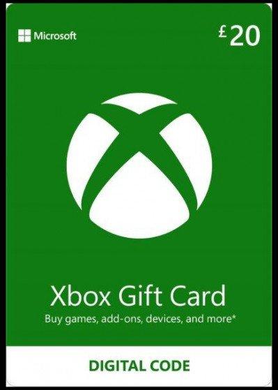 Microsoft Xbox Live Gift Card £20