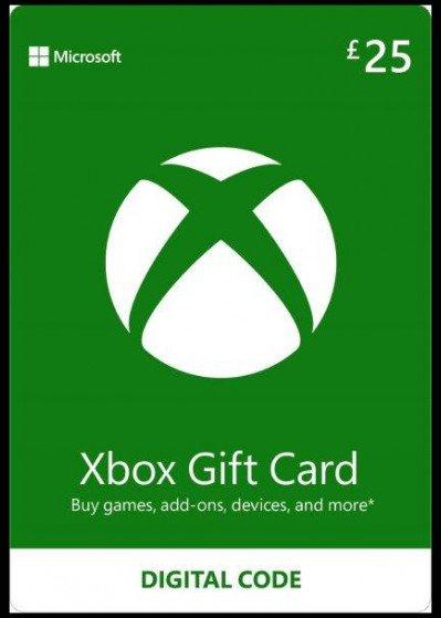 Microsoft Xbox Live Gift Card £25