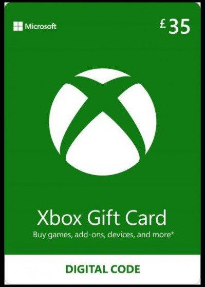 Microsoft Xbox Live Gift Card £35