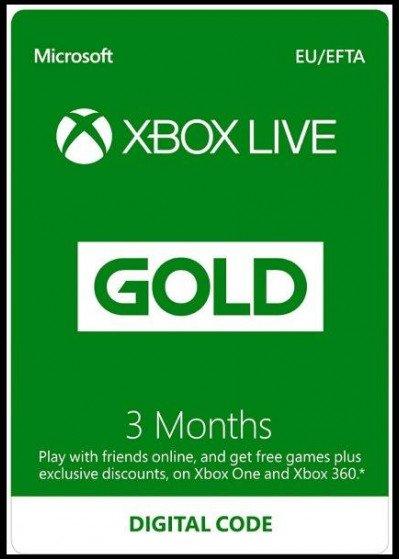 Microsoft Xbox Live Gold Membership 3 Months